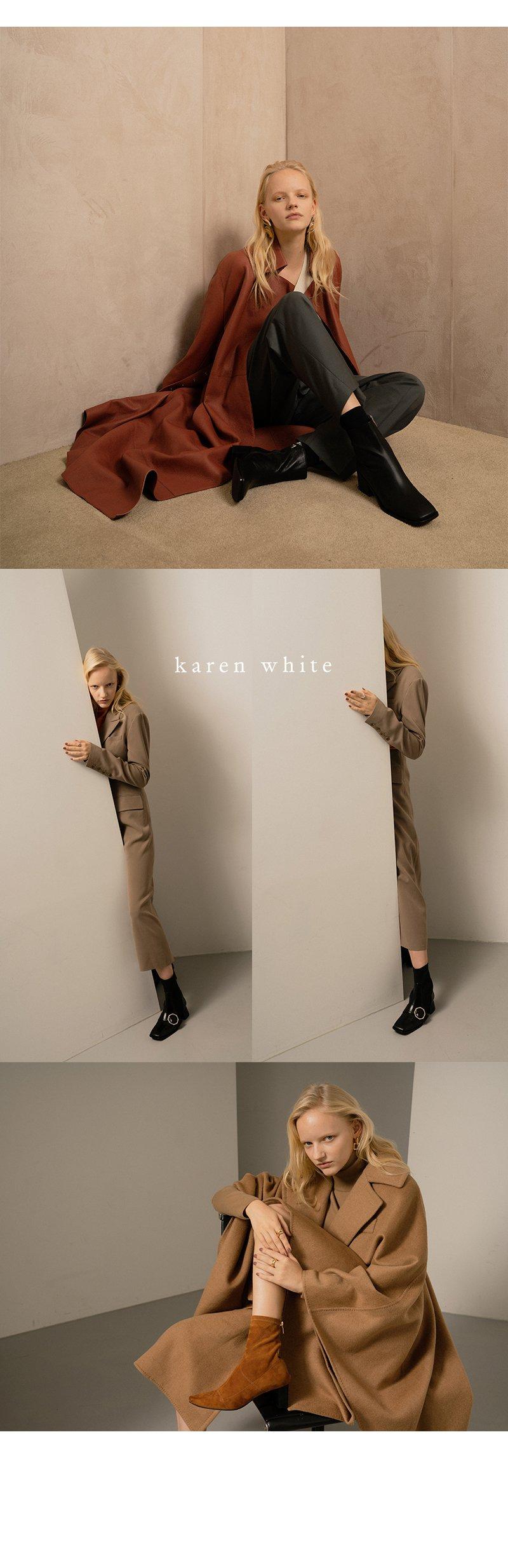 카렌화이트(KAREN WHITE) Keep kw1277 5cm 앵클부츠